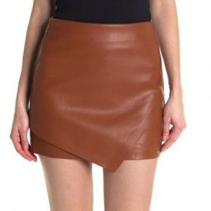 Blank NYC Chatterbox Faux Leather Skirt